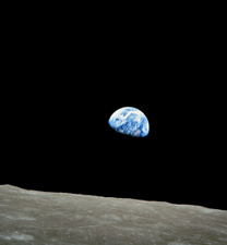 Earthrise by NASA Apollo 8 crewmember Bill Anders on December 24, 1968