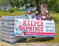Delivering water to affected residents in Kentucky