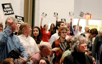 Citizens speaking out against the ODEC proposed coal plant