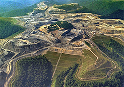 An Alpha Coal mountaintop removal coal mine
