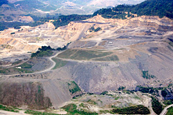 Aerial photo of a mountaintop removal site in Wise County, Virginia courtesy of Southwings (www.southwings.org)