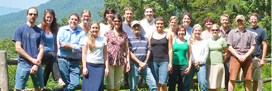The Appalachian Voices staff during their 2012 annual staff retreat
