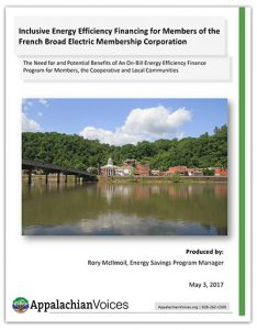 A view of Marshall, N.C., headquarters of the French Broad Electric Membership Corp., across the historic French Broad River.