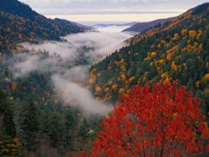 Autumn view from Morton overlook, Great Smoky Mountains National Park