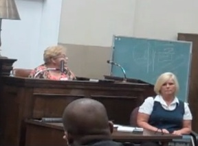 A Marion resident testifies before the NC Utilities Commission