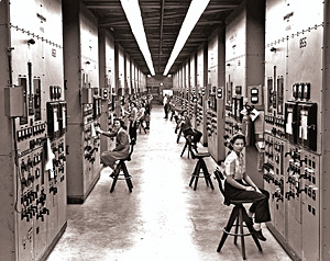 Women monitored control panels at the Y-12 plant in Oak Ridge.