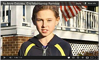 Olivia as one of the children featured in the No More Excuses video campaign - Click for the video