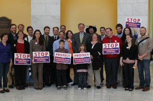 Rep. Frank Pallone (D-NJ), sponsor of the Clean Water Protection Act, with Appalachian Voices and citizens lobbyists at the 8th annual End Mountaintop Removal Week in Washington.