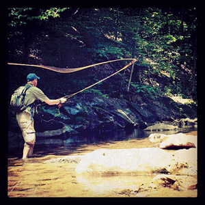 Fly fishing on the Cranberry River, one of the premier trout streams that would be protected by the new monument. Photo courtesy of Philip Smith