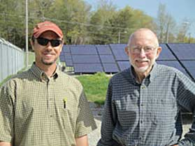 Josh Bills and Steve Boyce at the Berea Solar Farm. Photo courtesy Josh Bills