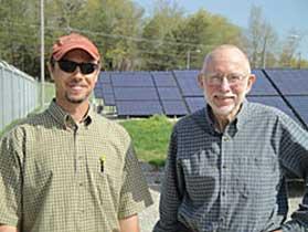 Josh Bills and Steve Boyce at the Berea Solar Farm. Photo courtesy Josh Bills
