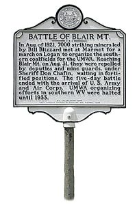 Battle of Blair sign
