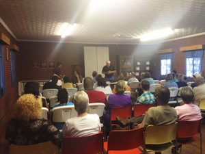 Residents of the Belews Creek area gather at a community meeting on power plant wastewater hosted by the Pine Hall Ruritan Club.