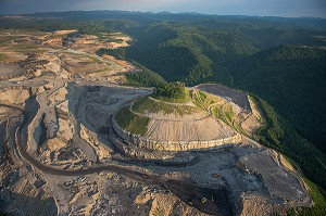Alpha Natural Resources Twilight surface mine complex in Boone County, West Virginia - Photo by Ami Vitale