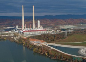 TVA's Kingston Fossil plant is one of the many coal-burning facilities in Central Appalachia's front yard. Yet, fewer and fewer plants in the Southeast are purchasing coal from Appalachia. Instead, utilities are looking to the cheaper Powder River and Illinois basins. Photo from tva.com