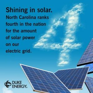 Duke Energy celebrates the strength of North Carolina's solar industry while threatening to slow it down.