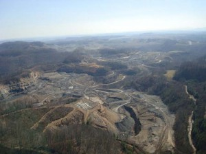 an aerial image from the Virginia Department of Transportation shows progress on the Hawks Nest portion of the highway.