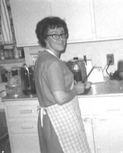 Ray is preparing a meal in this 1968 photograph. Many recipes were passed down by her Cherokee grandmother in southeastern Kentucky. Photos courtesy of Tammy Stachowicz