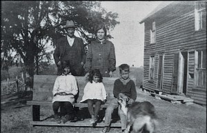 William Isom found this undated photograph of his great-great-aunt and uncle, Lillian Isom and Henry Cloud, while searching for information about his family's heritage in northeastern Tennessee. Photo courtesy of William Isom