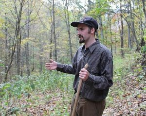 Adam Hall speaks to a group of environmental advocates about the diverse ecology at risk of destruction from mountaintop removal. Photo courtesy of Adam Hall