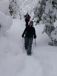 Snowshoes make winter trails more accessible. Photo by Jessica Scowcroft