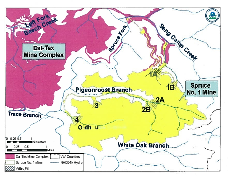 Supreme Court Rejects Spruce Mine Mountaintop Removal Case - Us supreme court map