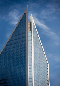 A recent decision by the N.C. Utilities Commission allows Duke Energy and other public utilities to boost profits by charging customers under a corporate tax rate that the state legislature cut last year. Photo: The Duke Energy Center in Charlotte, N.C.