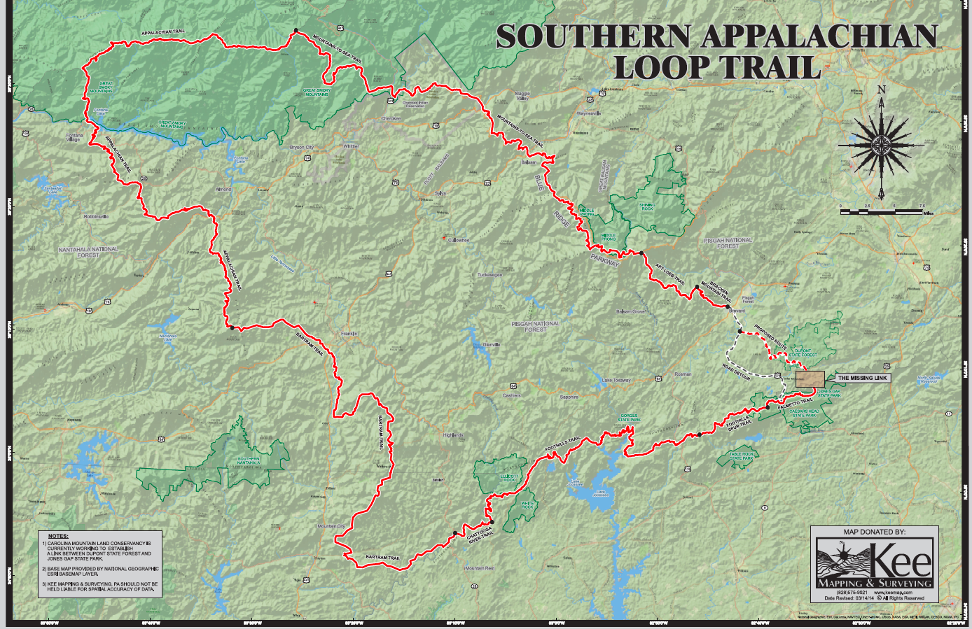 Connecting the Dots of the Southern Appalachian Loop Trail ... on