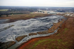 A coal ash pond at Duke Energy's Buck Power Plant. Photo by Les Stone / Greenpeace