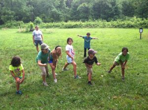 Children having a blast at Camp Muddy Sneakers in Brevard, N.C.