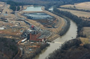 Duke Energy's retired Dan River coal plant, where a massive coal ash spill in February spurred legislative action.
