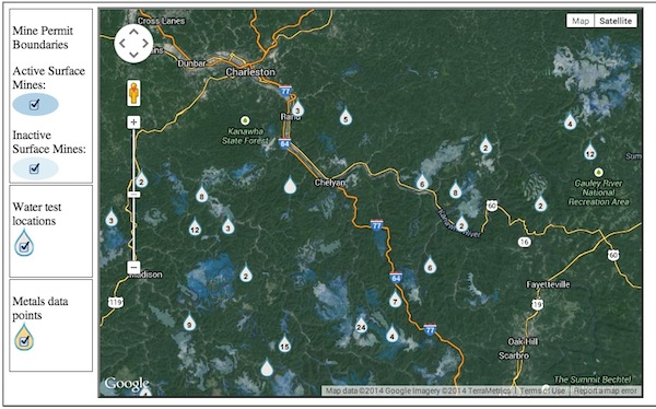 New features of the ACE Project mapping tool include mine boundaries and