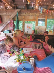 """This informal craft activity guided by a New Beginnings camper is an example of the High Rocks holistic education experience where, as Executive Director Sarah Riley says, """"To be educated is to be a thinker, a dreamer and a doer. And we don't have enough adults in the world who are all three of those things at once."""" Photo by Kimber Ray"""