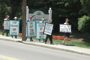 Southern Appalachian Mountain Stewards formed the Justice to Justice campaign this year to raise awareness about the dismal regulatory records and outstanding debts of Justice-owned coal companies. Photo from justicetojustice.org