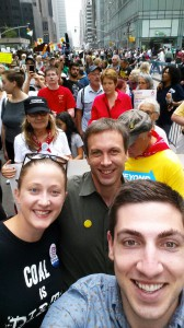 Kate Rooth, Matt Wasson and Thom Kay were among the AV staff joining the Appalachian contingent at the People's Climate March