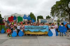"""Appalachian citizens rally in front of the White House for """"Our Water, Our Future."""""""