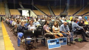 Hundreds gather at the MEC hearing in Cullowhee, N.C. All 80 speakers opposed fracking.
