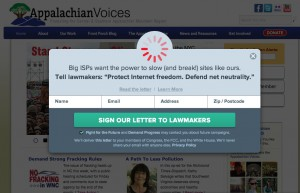 Appalachian Voices is participating in today's Internet Slowdown to support an open and fair web.