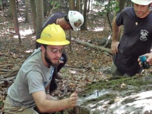 Davis Wax working with a crew maintaining the Appalachian Trail