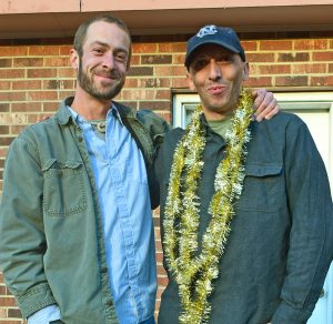 Zachary Dixon, left, pictured with Appalachian Voices Energy Policy Director Rory McIlmoil.