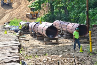The Atlantic Coast Pipeline would be 42-inches in diameter - bigger than the infamous Keystone XL, and the largest size pipeline to cross the Central Appalachian mountains. Image courtesy of FracTracker