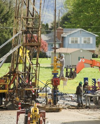 Gas well 'Ultimate Warrior 1', Montoursville, Penn. Photo courtesy of Terry Wild Stock Photography