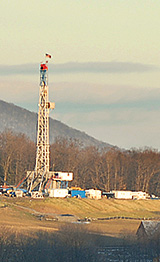 A gasfield in Pennsylvania. Photo courtesy of Terry Wild Stock Photography