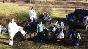 Appalachian State University students volunteering during the annual MLK Day Challenge.