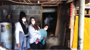 Appalachian State students serve at a local Watauga County resident's home during the sixteenth annual MLK Day Challenge.