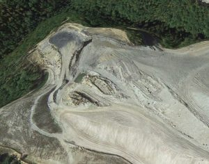 A satellite image on Google Earth, taken October 2013, of a mine in Breathitt County, Kentucky, owned by Frasure Creek Mining.