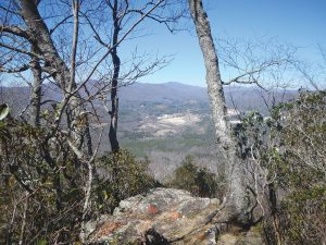 On a clear day, you can see the entire North Toe River Valley from the summit of Little Table Rock Mountain. Photo by Dac Collins.