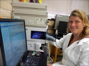 Vickers works in the Blue Ridge Bionetwork lab, which hosts training, education and outreach in addition to lab services. Photo courtesy of Bent Creek Institute