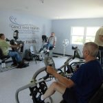 Patients exercise at a new rehabilitation clinic in Dawes, W.Va.  Photo courtesy The Breathing Center at Cabin Creek Clinic