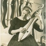Jean in dulcimer shop